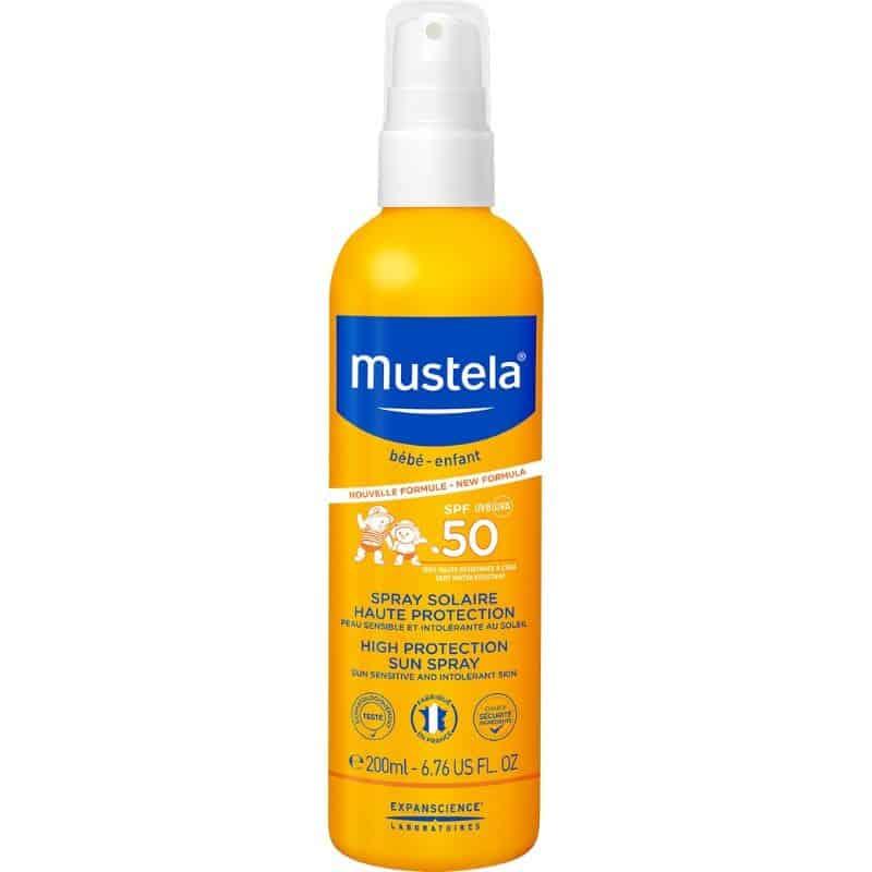 MUSTELA Bebe Αντηλιακό Spray Σώματος & Προσώπου Υψηλής Προστασίας 200ml