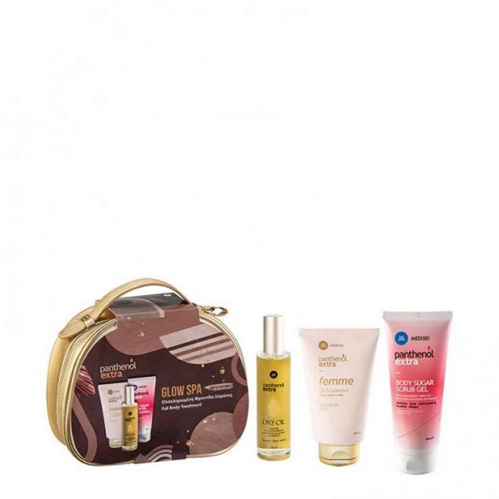Panthenol Extra Promo Femme 3 in 1 Cleanser 200m & Dry Oil 100ml & Body Sugar Scrub Gel 200ml