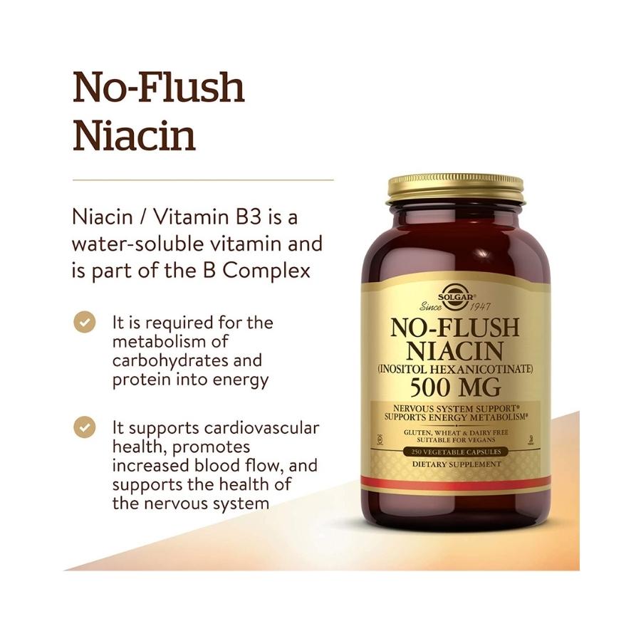 Solgar No-Flush Niacin 500mg