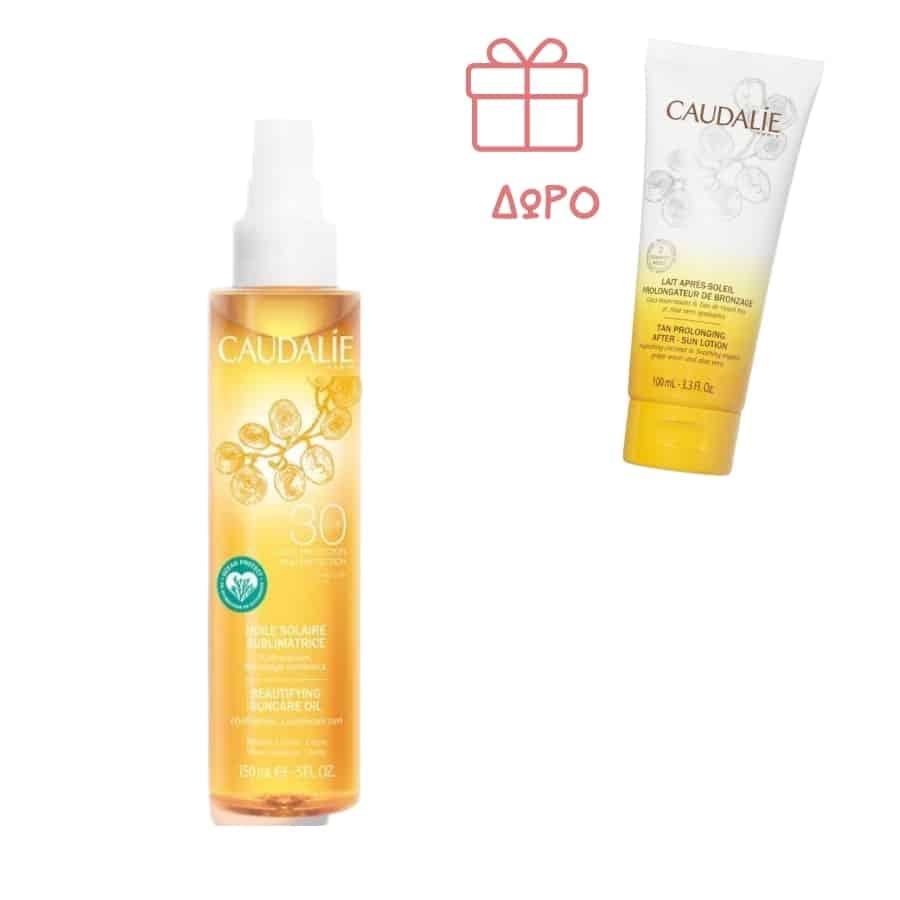 Caudalie Body Suncare Oil SPF30 GIFT Tan Prolonging After Sun Lotion 100ML