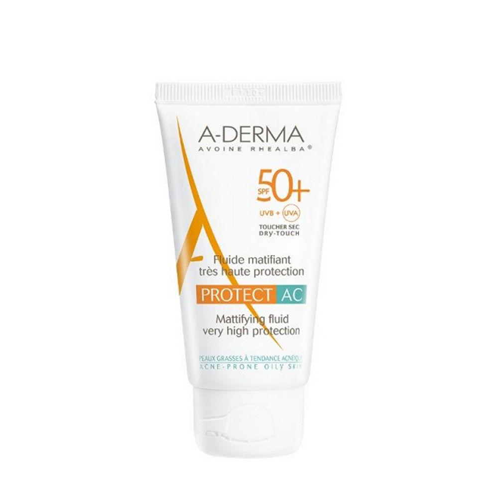 A-Derma Protect AC Fluide Matifiant Visage SPF50+, 40ml