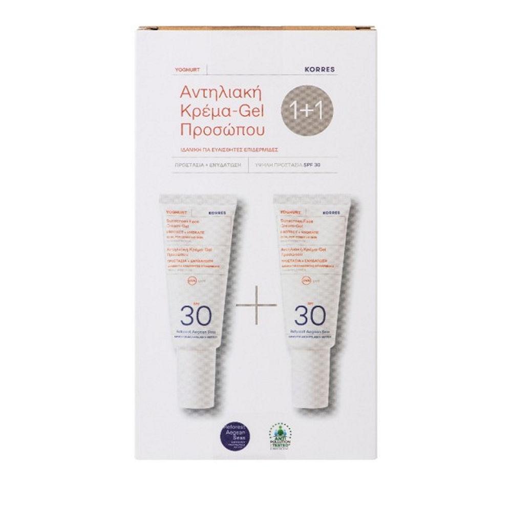 Korres Yoghurt Sunscreen Face Cream Gel SPF30 40ml 1+1