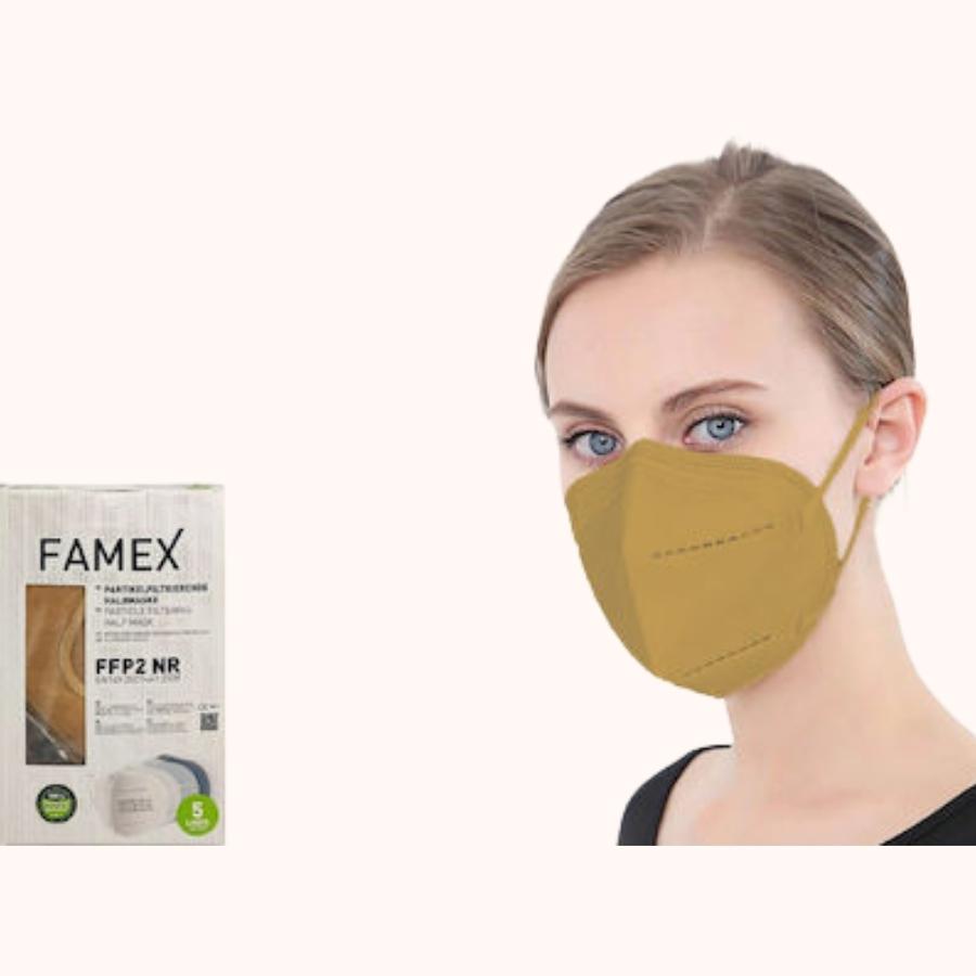 Famex Particle Filtering Half Mask FFP2 NR Beige