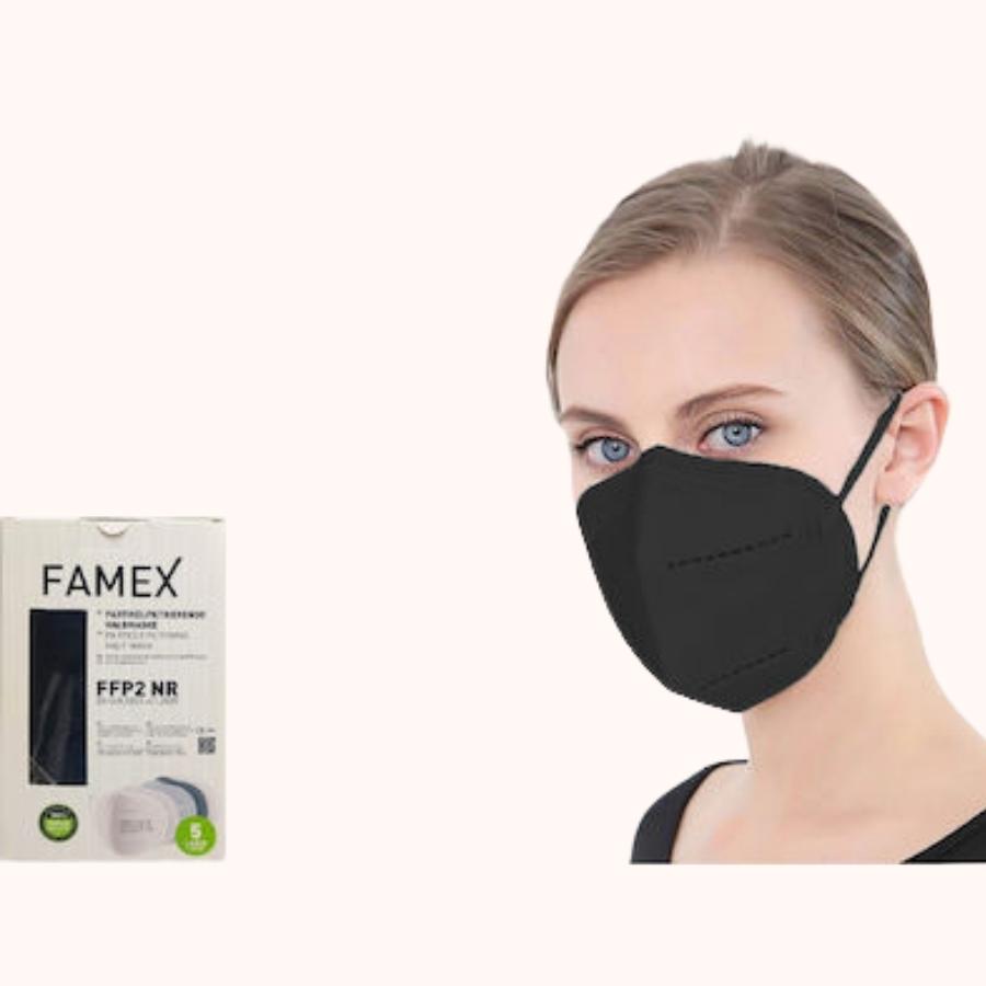Famex Particle Filtering Half Mask FFP2 NR black