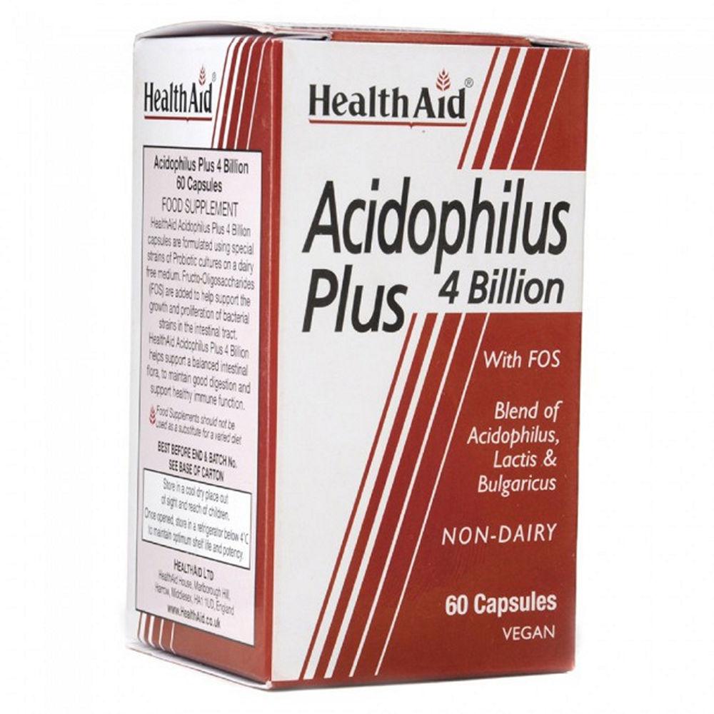 Health Aid Acidophilus Plus 4Billion Vegetarian 60caps