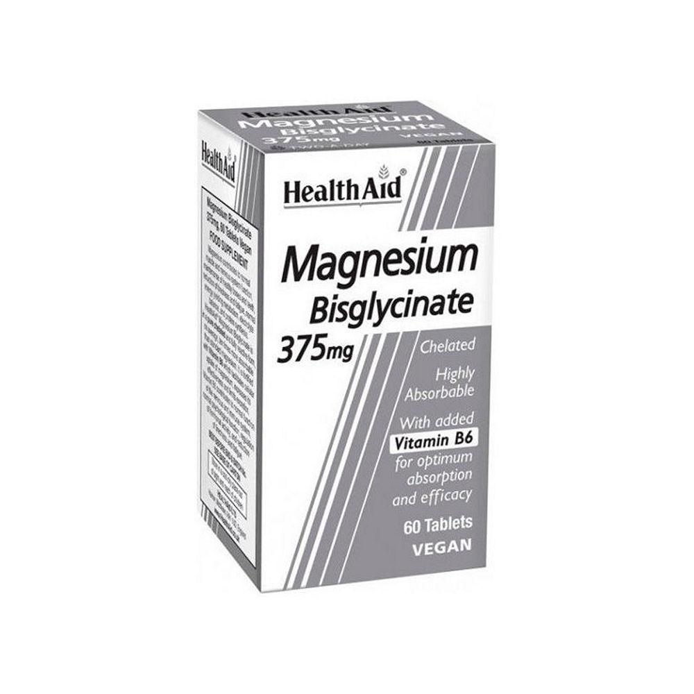 Health Aid Magnesium Bisglycinate 375mg 60tampletes
