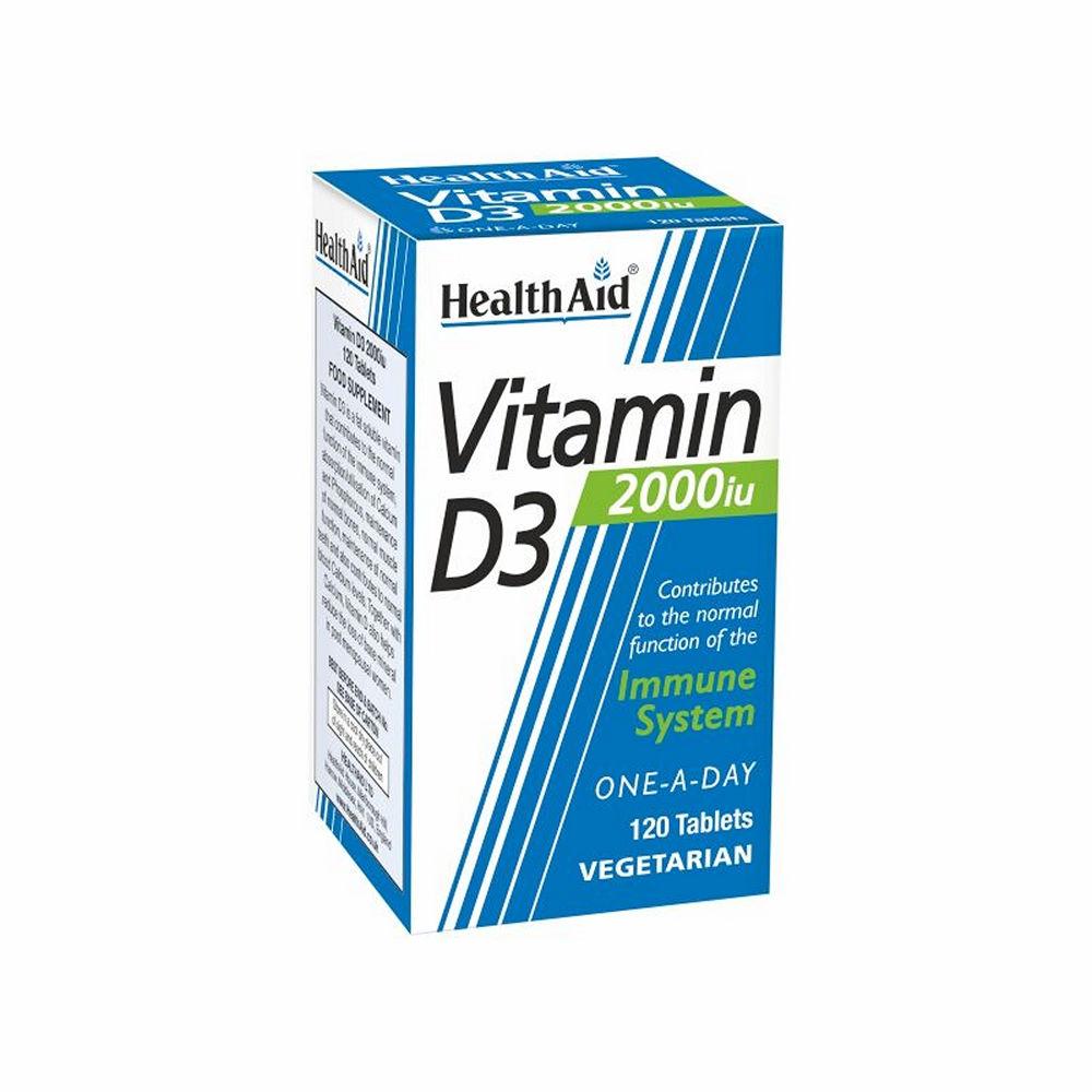 Health Aid Vitamin D3 2000 120tablets