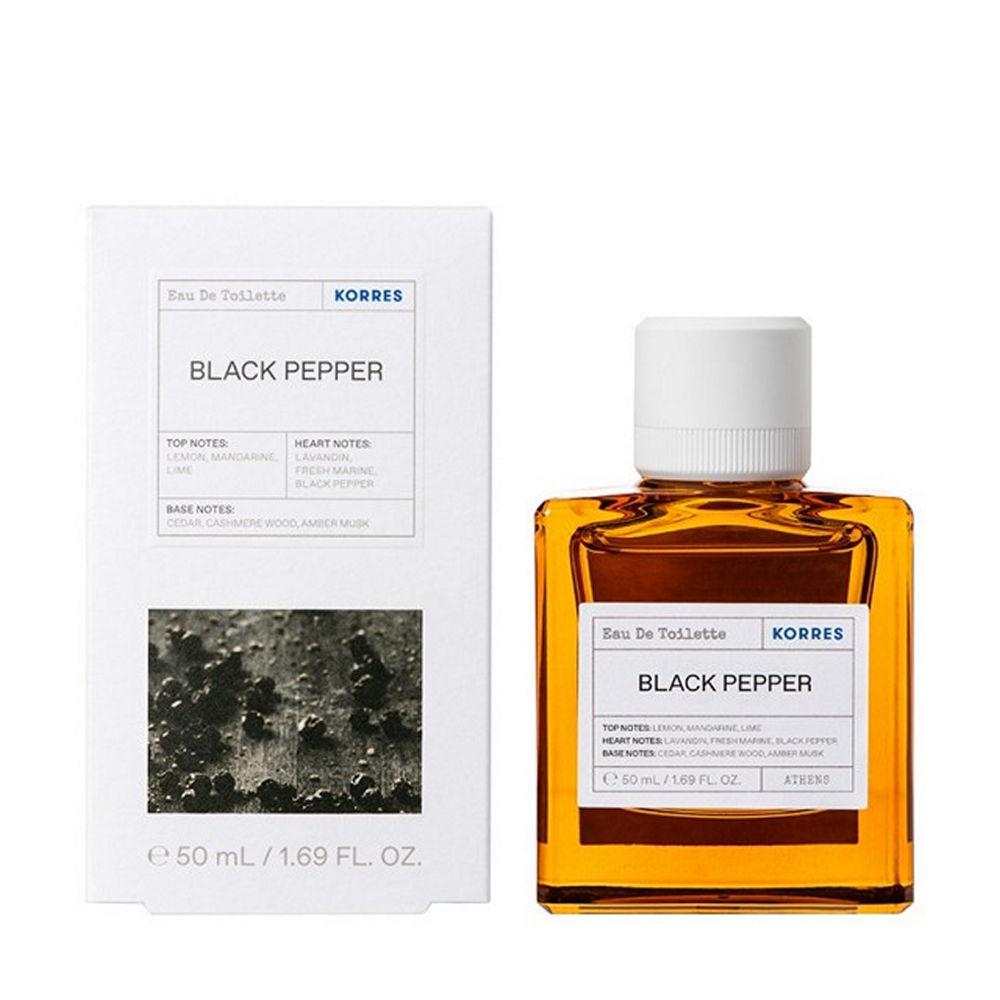 Korres Black Pepper Eau De Toilette Mens Parfume 50ml