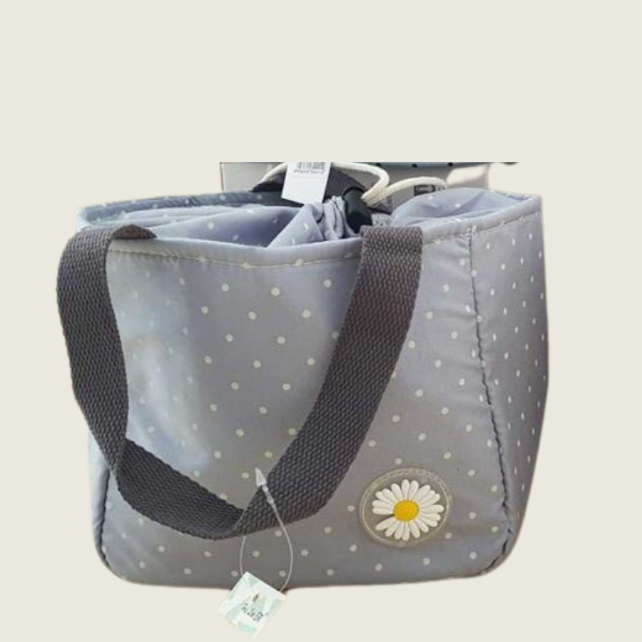 LUNCH BAG GREY DOTS (1)