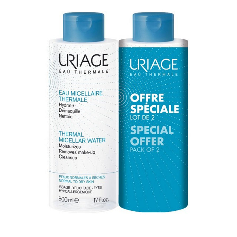 Uriage Promo Eau Micellaire Thermale Peaux Normales A Seches 2x250ml