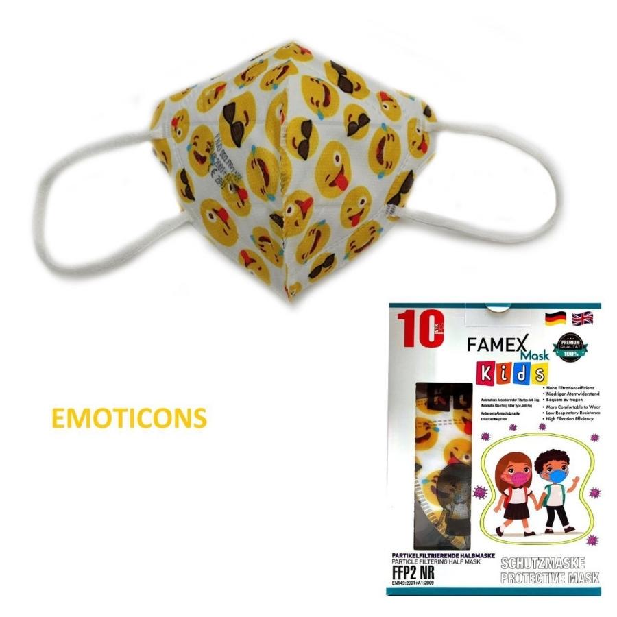 famex lilac kids mask ffp2 emotions