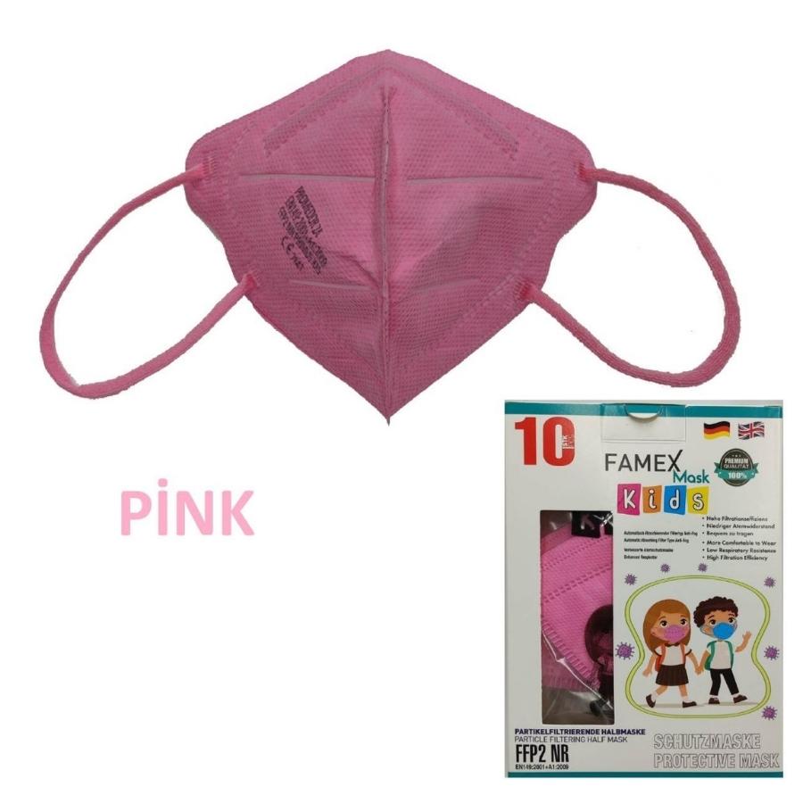 famex lilac kids mask ffp2 pink