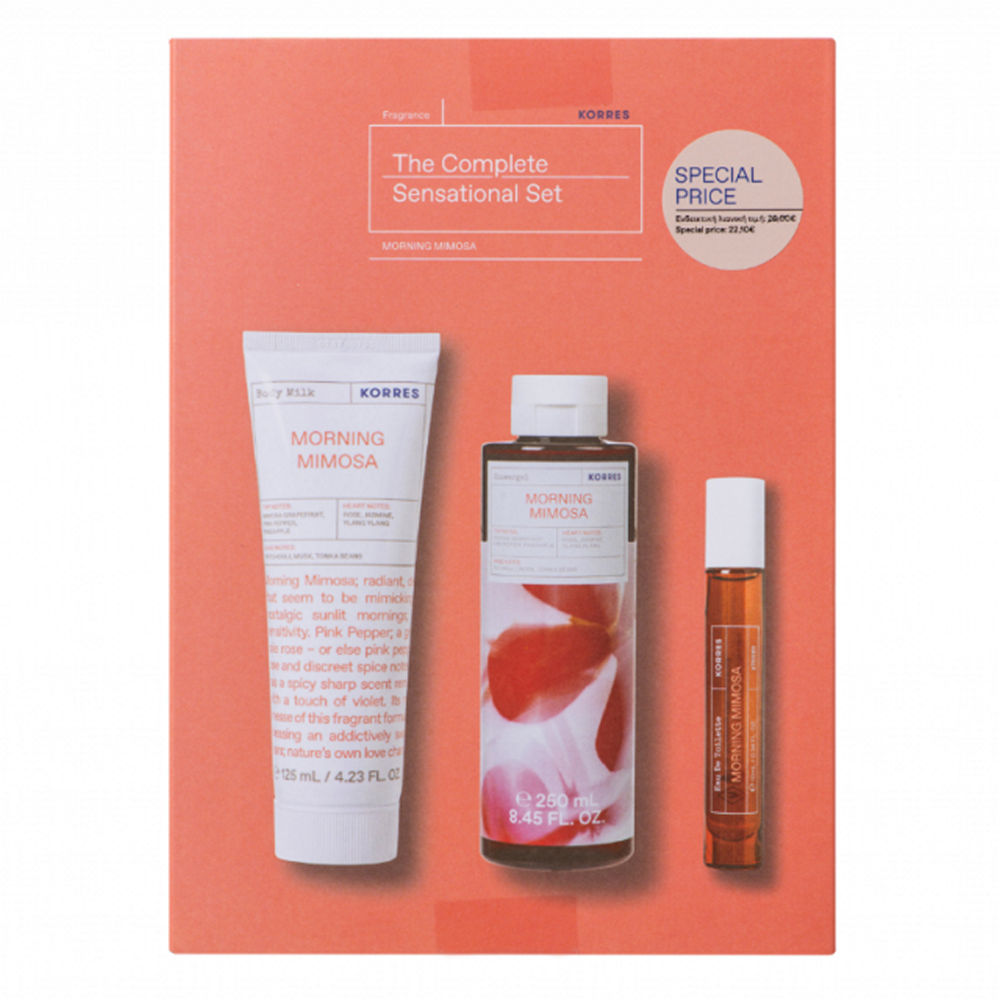 Korres Promo Morning Mimosa Body Milk 125ml & Morning Mimosa Showergel 250ml & Morning Mimosa Eau de Toilette 10ml