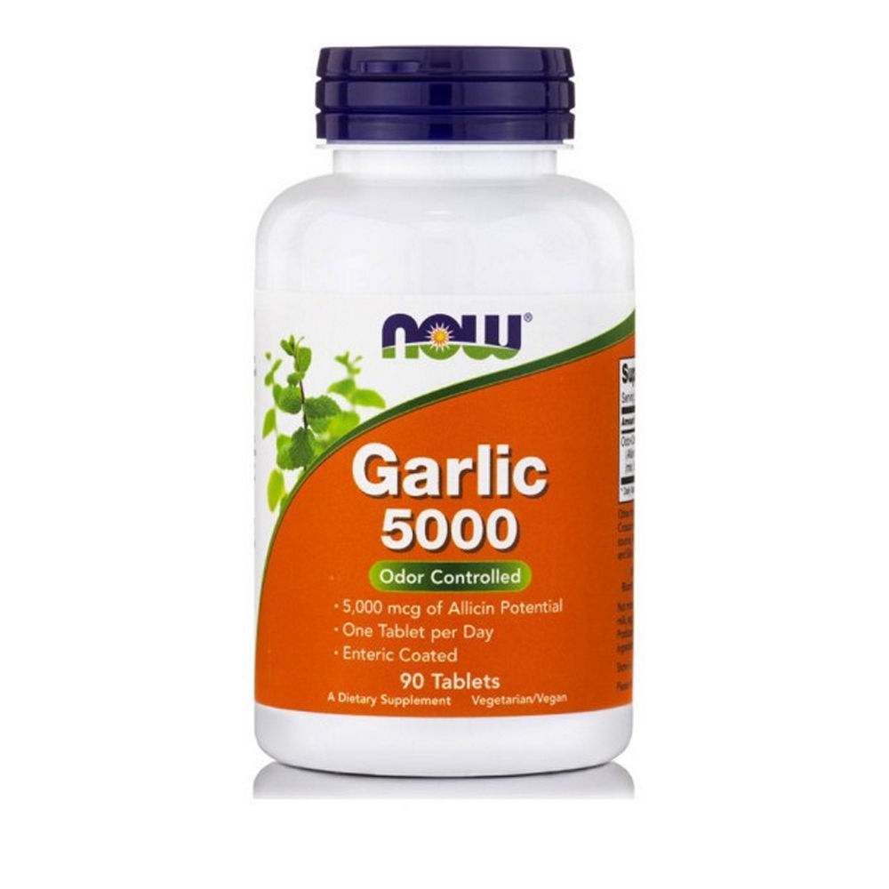 Now Foods Garlic 5000mcg 90 tablets