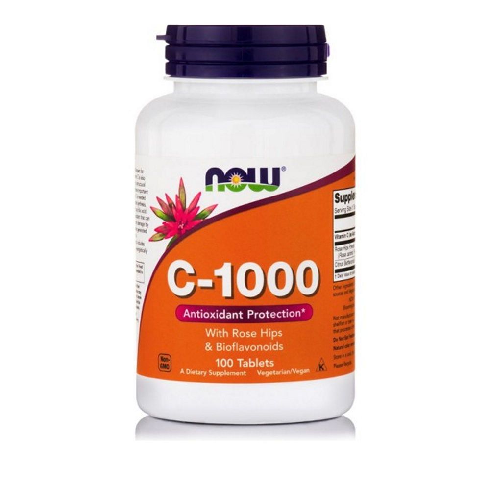 Now Foods Vitamin C-1000 With Rose Hips 100tab