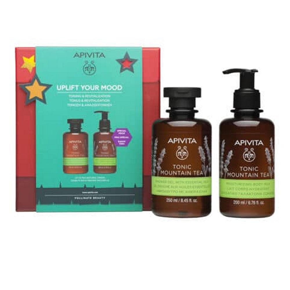 Apivita Promo Tonic Mountain Tea Shower Gel 250ml & Body Milk 200ml