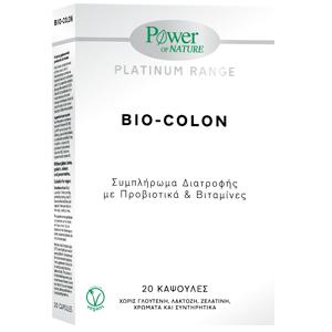 Power Of Nature Platinum Range Bio-Colon 20 κάψουλες