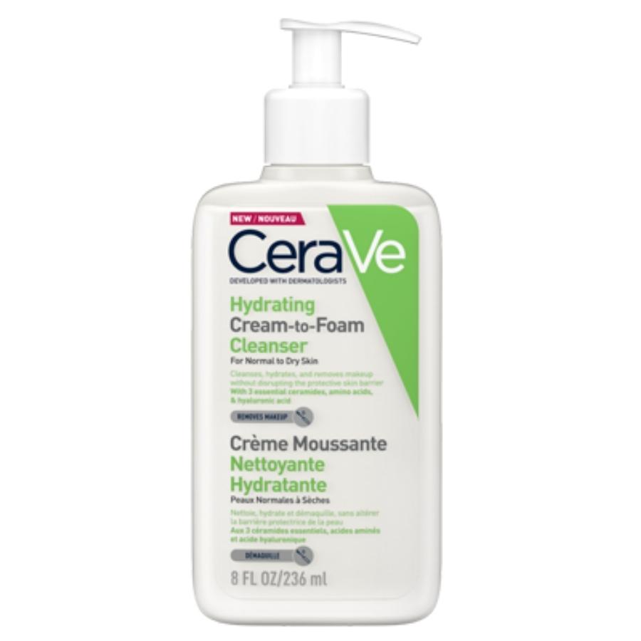 cerave Hydrating Cream to Foam